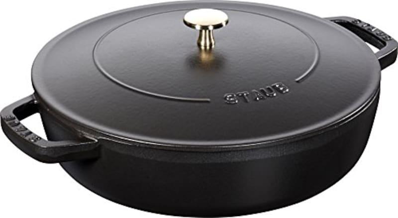 ストウブ,ブレイザー ソテーパン ブラック 24cm