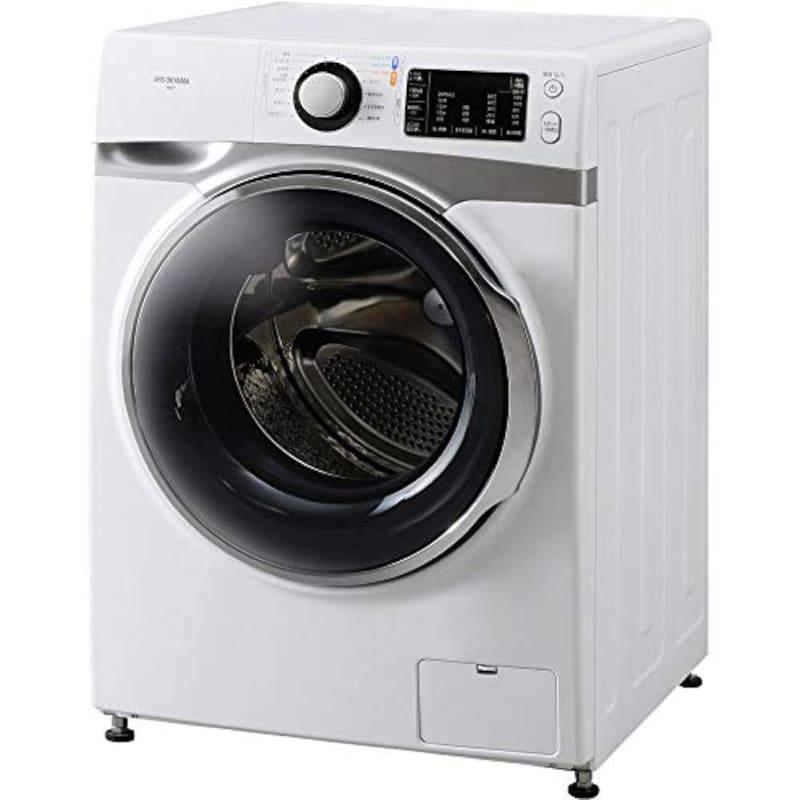 アイリスオーヤマ,ドラム式洗濯機 7.5kg 温水洗浄機能付き 左開き