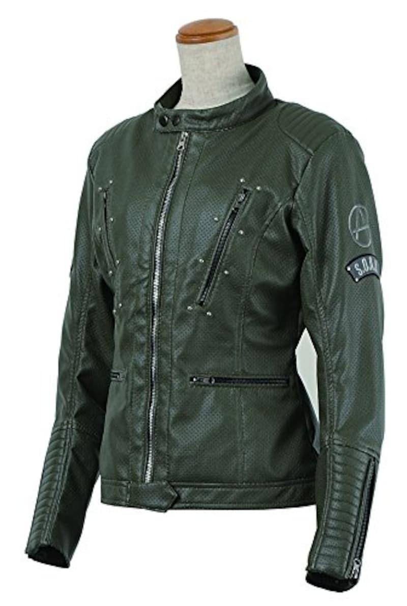 S.O.A.B,シンセティックレザーメッシュジャケット,SOAB-20