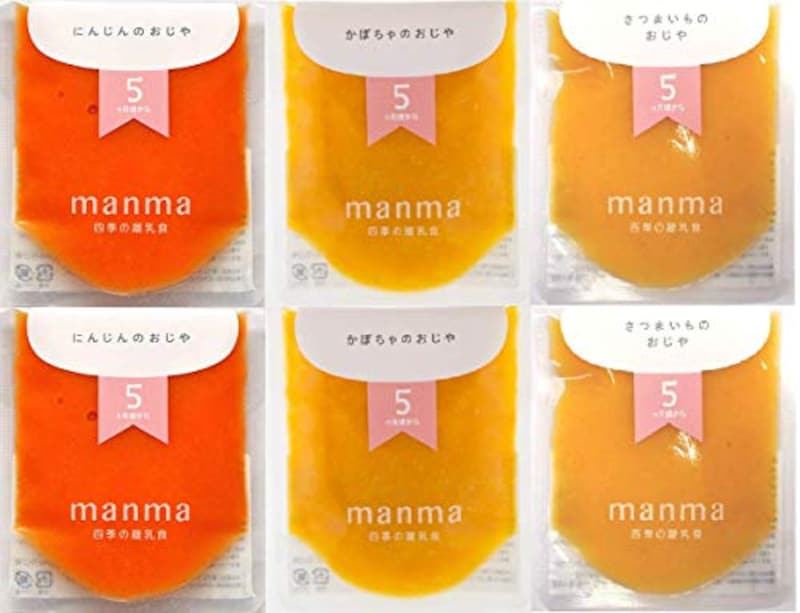 manma,四季の離乳食6個セット