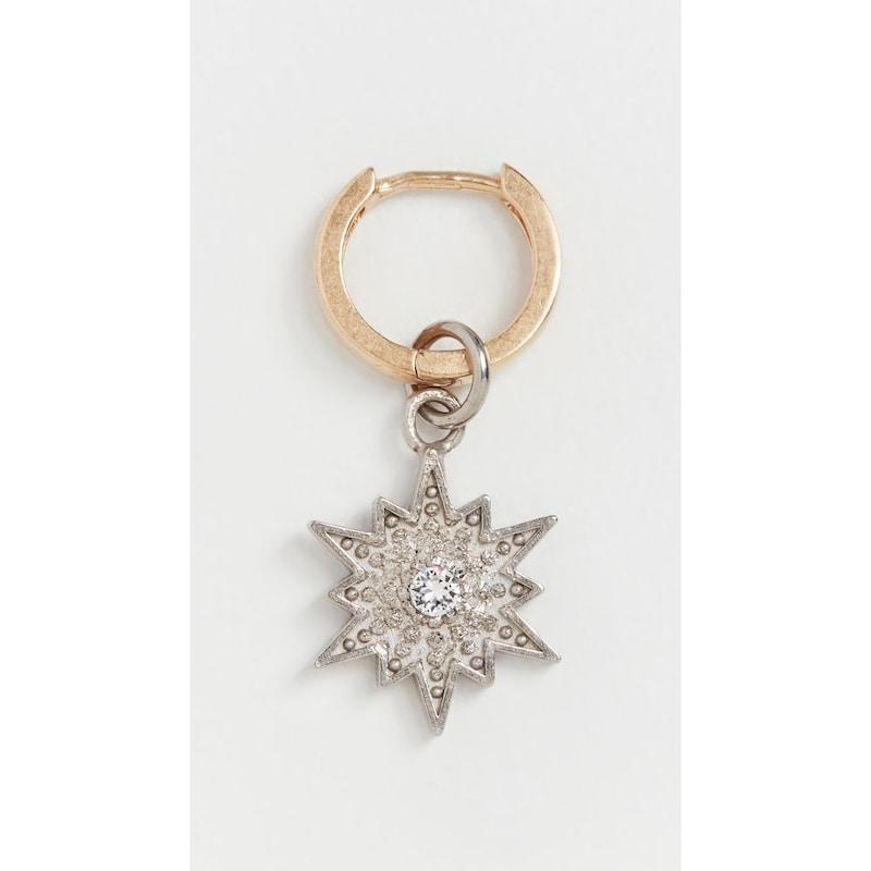 Maison Margiela(メゾン マルジェラ ),spiky earring Silver Burattato/Yellow Gold,spiky earring MMMAR30104