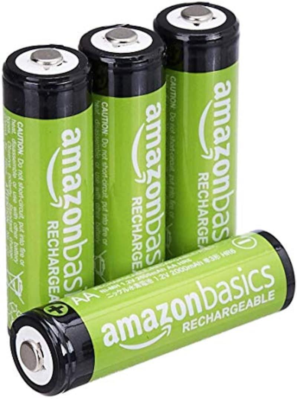 Amazon ,Amazonベーシック 充電池 充電式ニッケル水素電池 単3形4個セット,HR-3UTG-AMZN