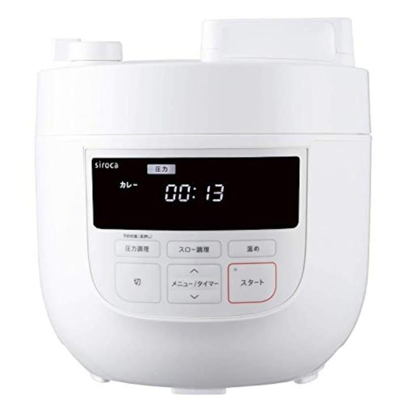 シロカ,電気圧力鍋,SP-4D151-WH