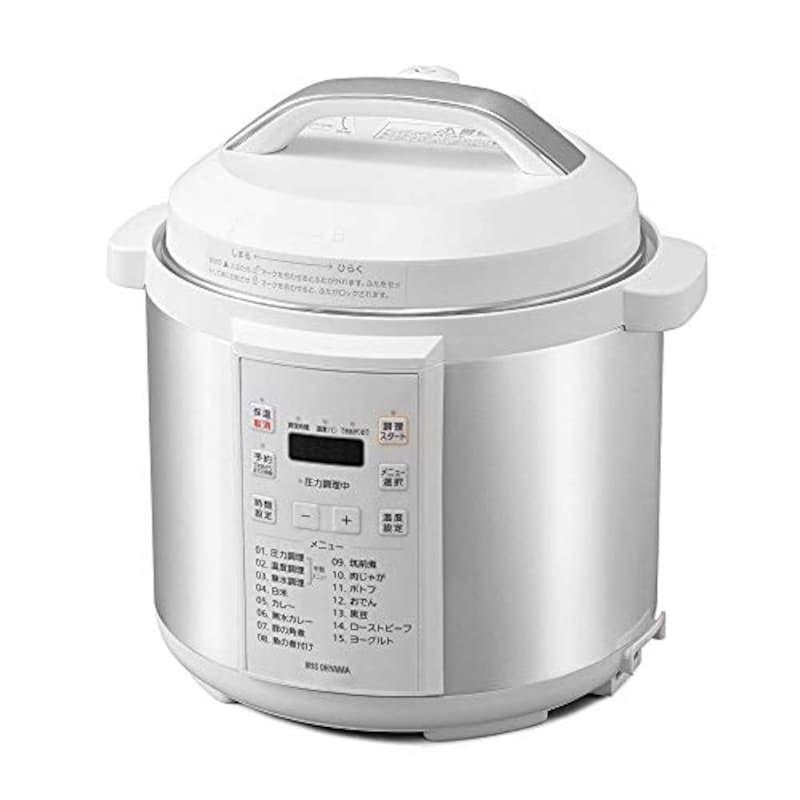 アイリスオーヤマ,電気圧力鍋,PC-EMA6-W