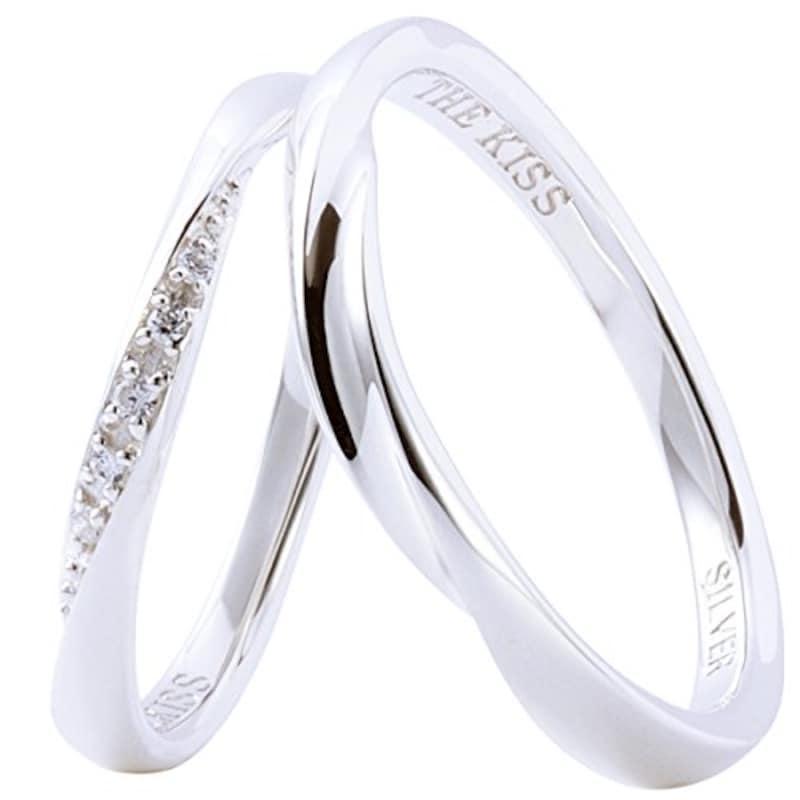 THE KISS(ザ・キッス),ペアリング 結婚指輪 シルバー,SR1844CB-1845