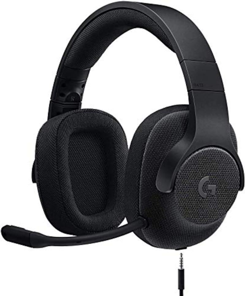 Logicool G,ゲーミングヘッドセット 有線 G433BK