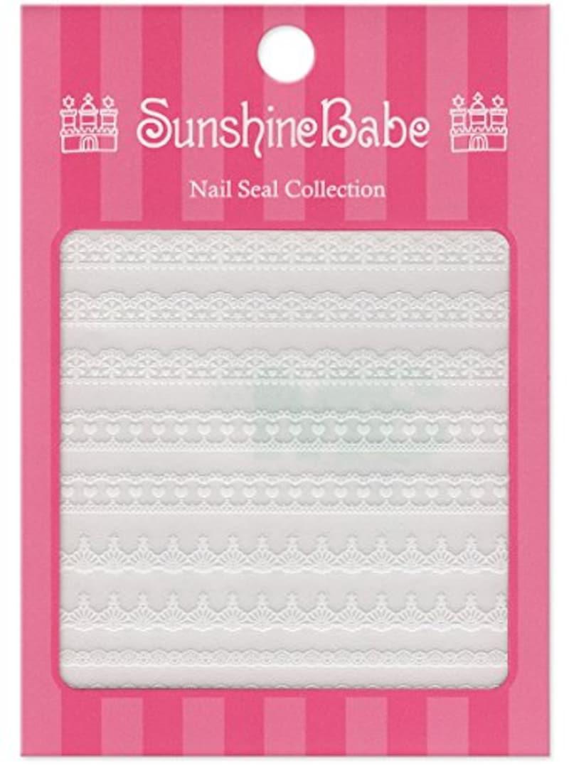 Sunshine Babe(サンシャインベビー),ネイルシールコレクション レースB