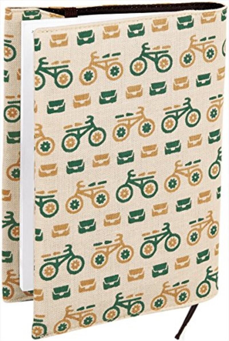 Miyamoto-Towel,レトロ小紋ブックカバー むかえにゆくよ,07586_dm