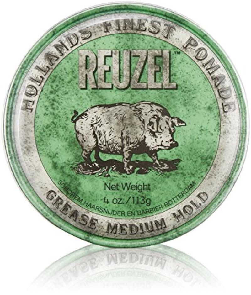 REUZEL(ルーゾー),MEDIUM HOLD GREASE ミディアムホールド グリーン 113g