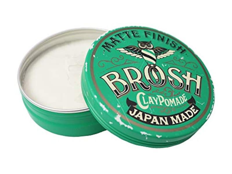 BROSH(ブロッシュ),CLAY POMADE ヘアワックス 120g,E001-20P-008140