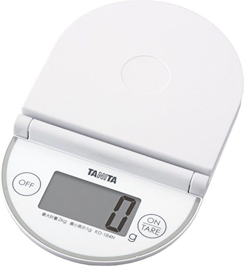 タニタ(Tanita),折りたたみ デジタルキッチンスケール,KD-184N WH