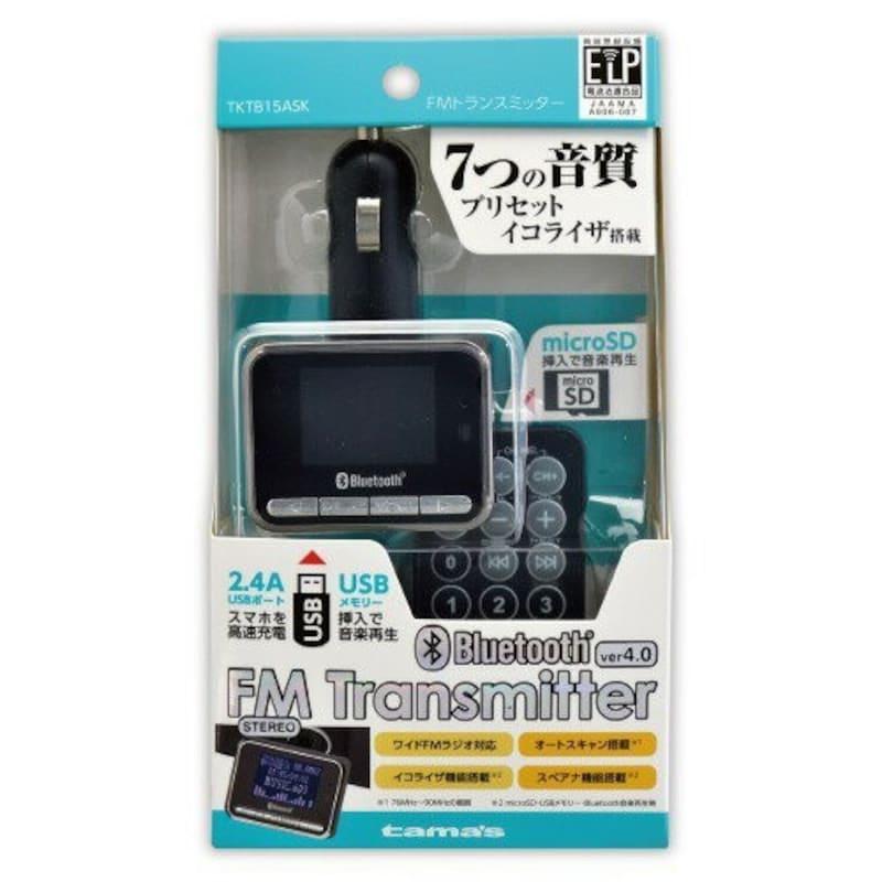 多摩電子工業,Bluetooth FMトランスミッター,TKTB15ASK