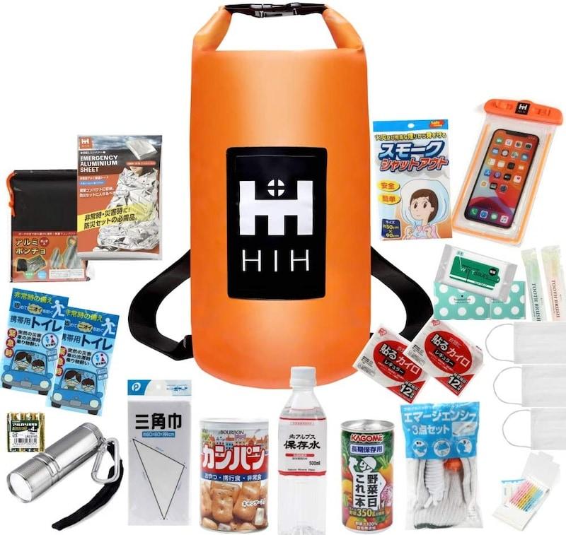 HIH,防災セット 1人 ハザードバック20 Regular ,h006