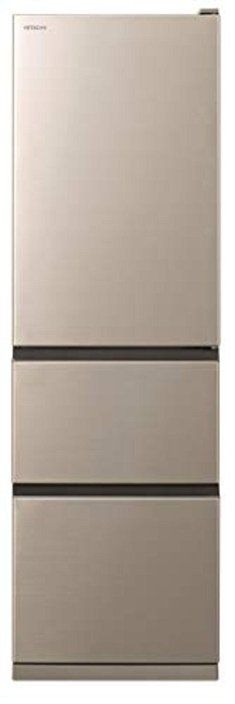 HITACHI(日立),3ドア冷蔵庫 まんなか野菜室シンプルデザイン,R-V32NV