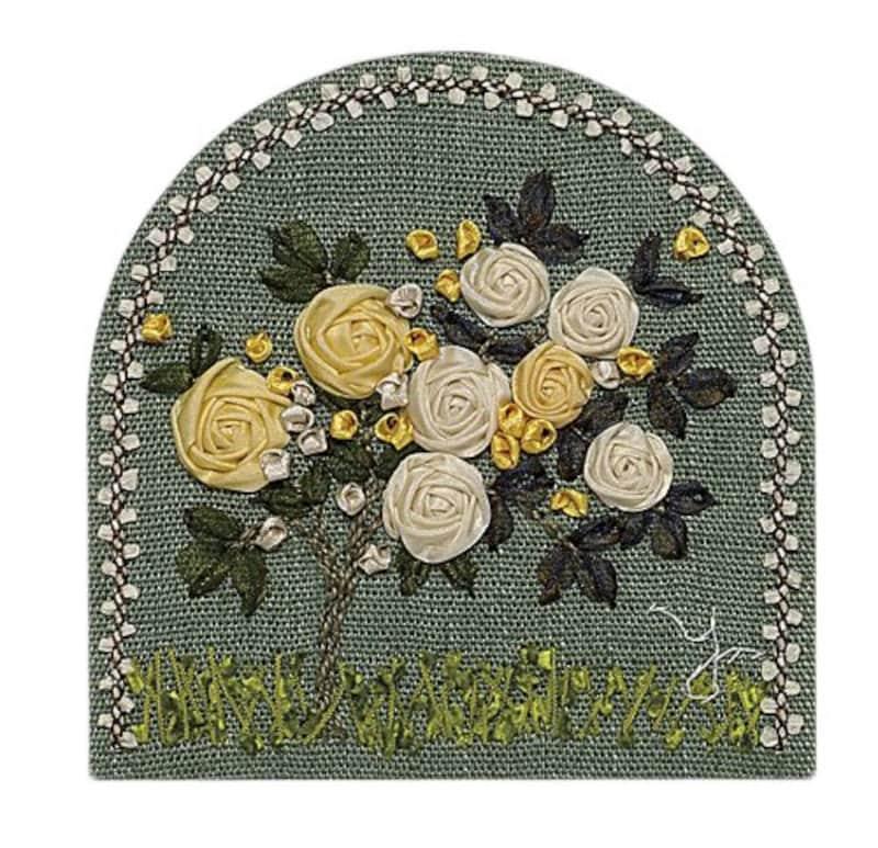 木馬,手芸キット リボン刺繍 思い出のバラ,RA-373