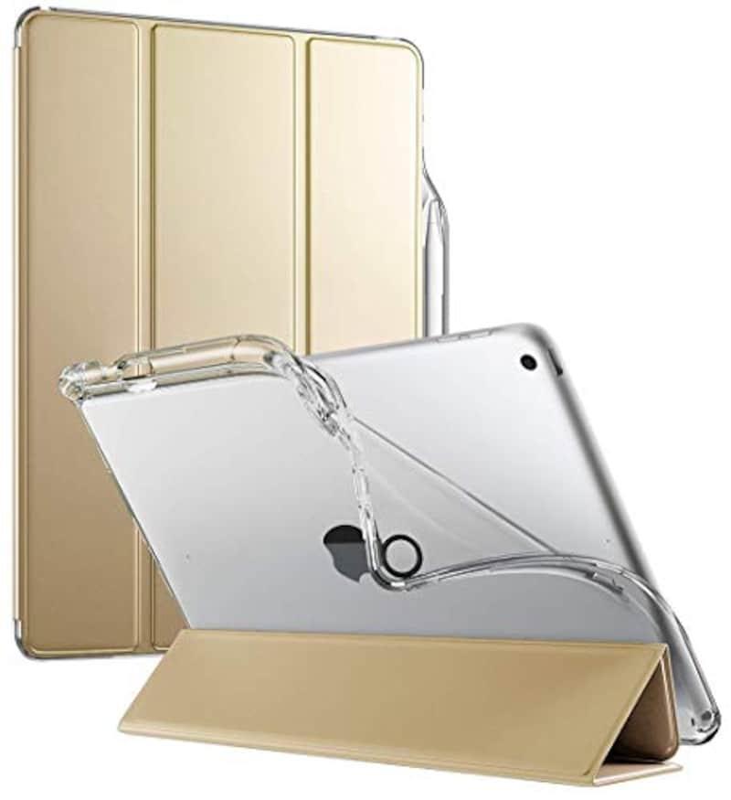 Poetic,iPad 9.7ケース シンプル三つ折タイプ,LumosX-iPad-9.7-2018-Champion Gold