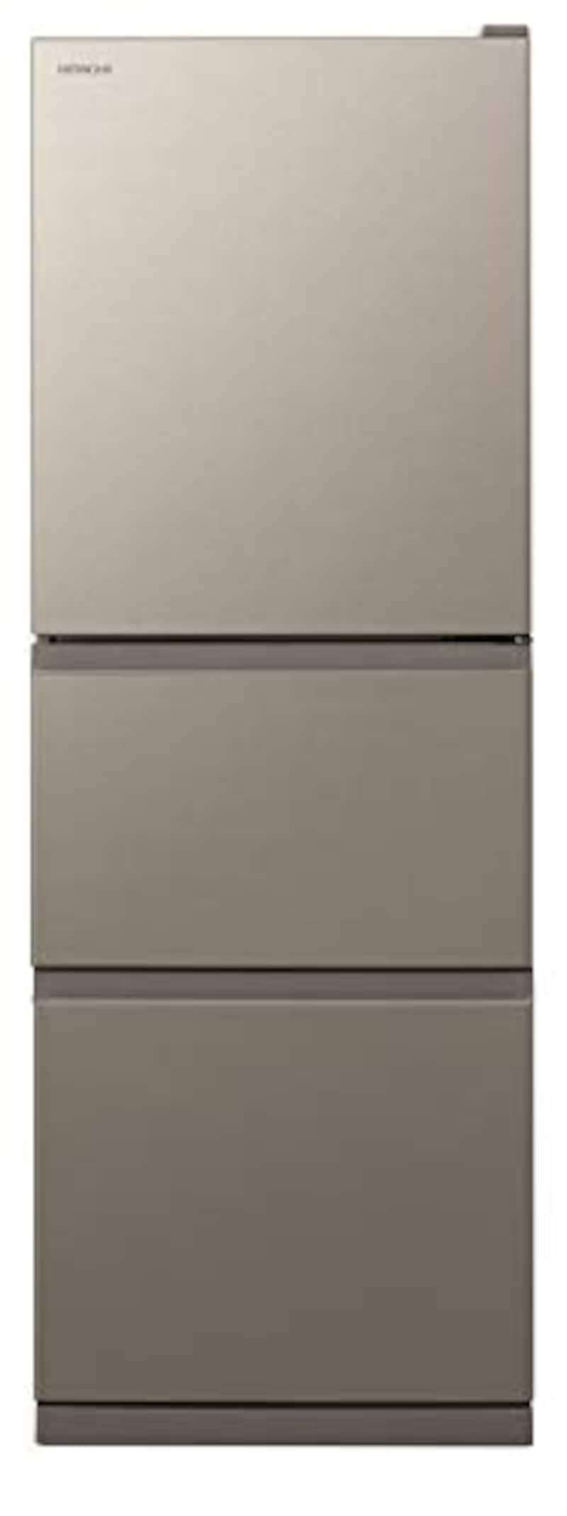 日立,3ドア冷蔵庫まんなか野菜室 265L,R-27KV-N