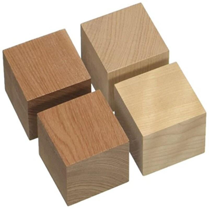 山本音響工芸,インシュレーター キューブベースアサダ桜材(4個1組)