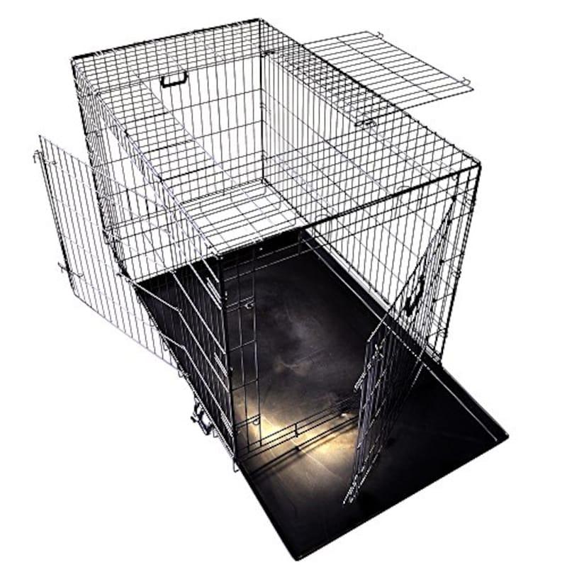プチリュバン,スリードア 折りたたみ式 ペットケージ XXL
