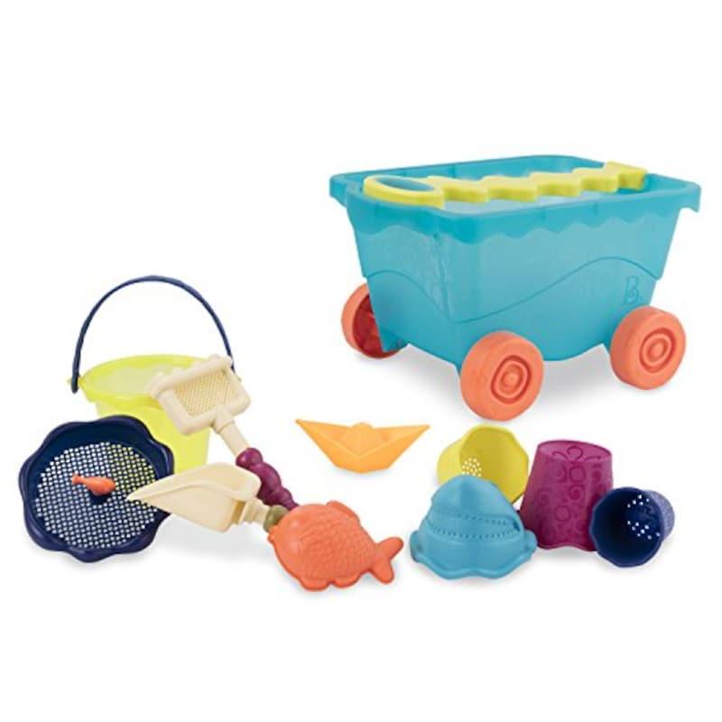 B. toys,トラベルビーチワゴン 砂あそび用おもちゃセット,BX1596Z