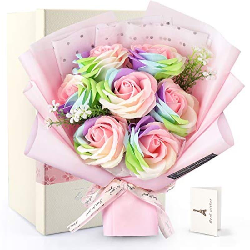 RERXN,花束 ソープフラワー メッセージカード付き
