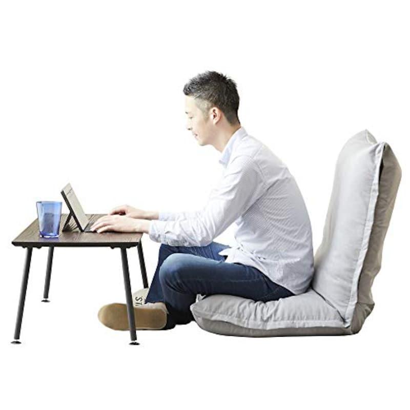 ドウシシャ(DOSHISHA),ふかふか3Dクッション座椅子,AKDZ-LGY