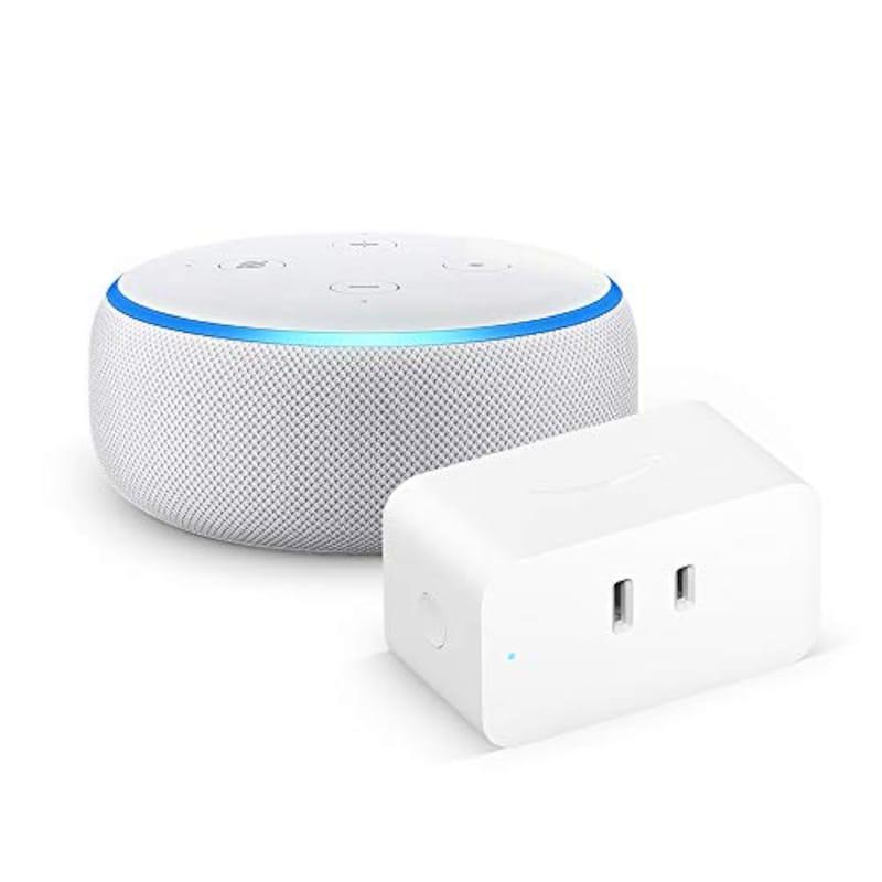 Amazon,Echo Dot 第3世代 サンドストーン + Amazon スマートプラグ,B072B5BTLK