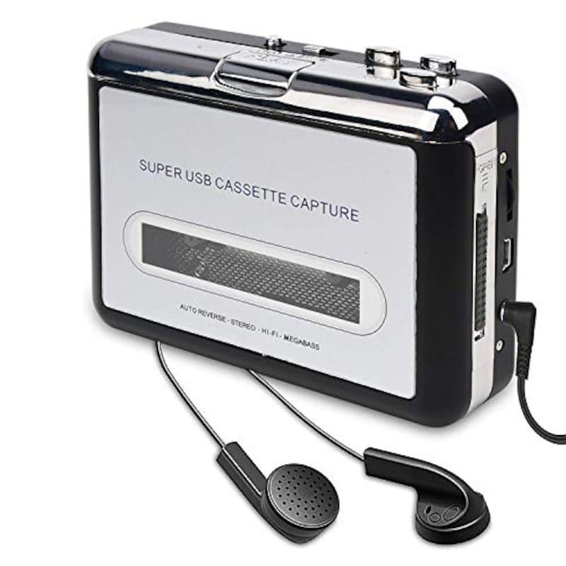 INMAN,ダイレクト カセットテープ MP3変換プレーヤー