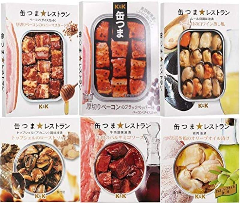 国分株式会社,缶つま レストラン 6種 セット
