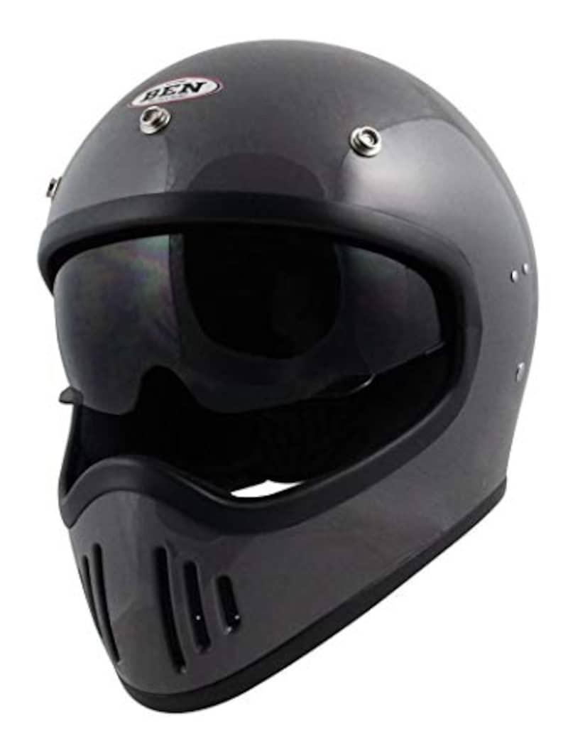 Speed Pit(スピードピット),フルフェイスヘルメット クラシックグレー FREEサイズ