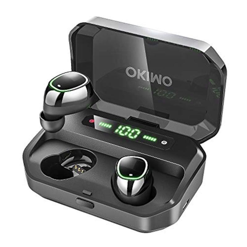 OKIMO,LEDディスプレイ Bluetooth イヤホン,TWS-P10S