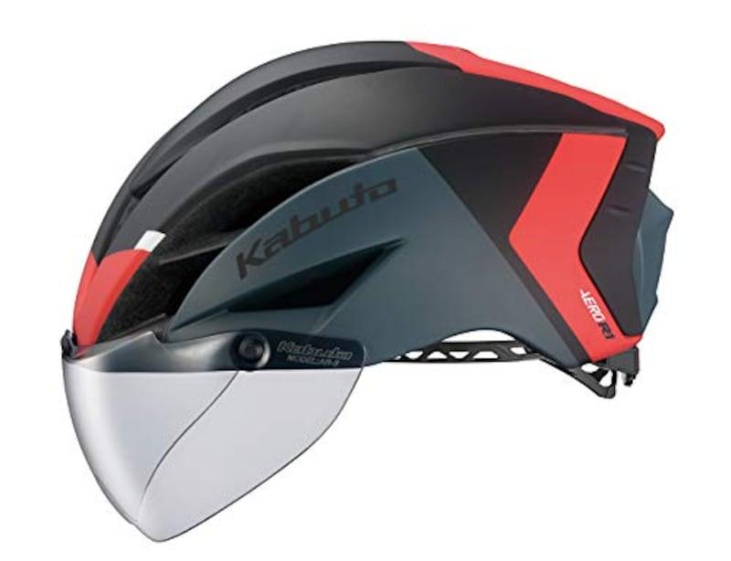 OGK KABUTO(オージーケーカブト),ヘルメット G-2マットブラックレッド,AERO-R1