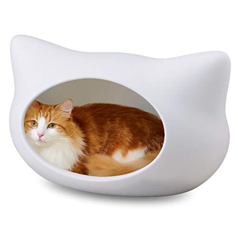 オーエフティー,ねころん 猫顔モチーフ ドーム型ベッド ファーマット付き【獣医師推薦】