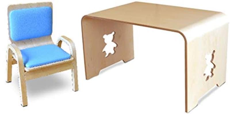 MAMENCHI,サイズ大きめな子供用木製テーブル