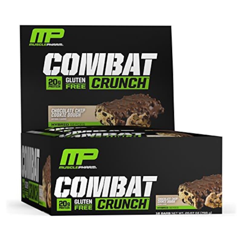 Muscle Pharm,コンバット クランチバー, チョコレートチップクッキーダフ 12 Bars