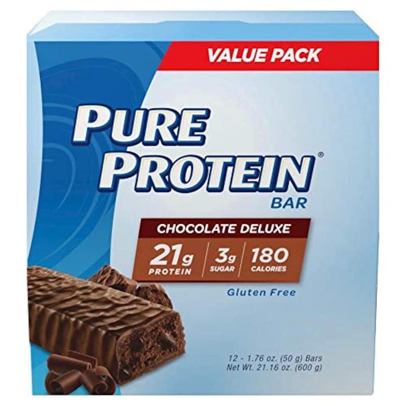 Pure Protein,プロテインバー チョコレートデラックス12本入り [並行輸入品]