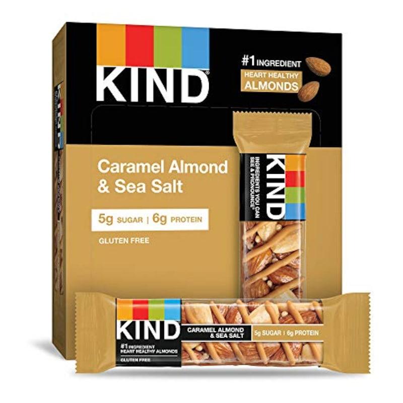 KIND,Bar Nuts & Spices Caramel Almond & Sea Salt 12 Bars