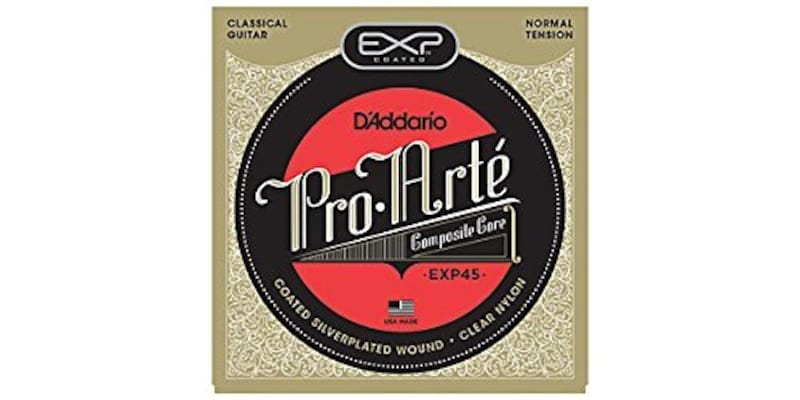 D'Addario ,クラシックギター弦 EXPコーティング Silver Wound Normal EXP45