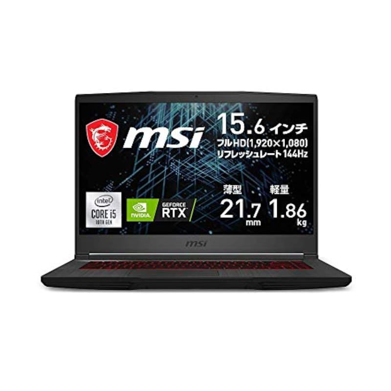 MSI,NVIDIA最新RTX3060搭載ゲーミングノートPC,GF65-10UE-063JP