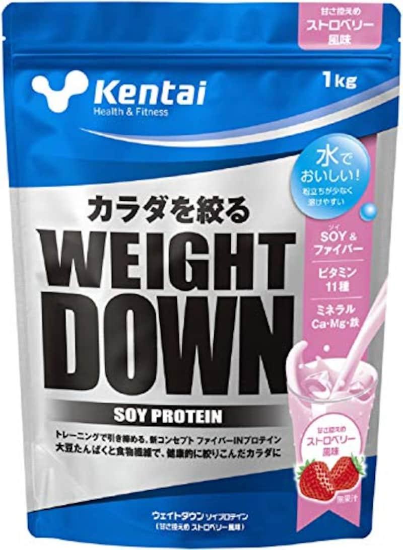 Kentai,ウェイトダウン ソイプロテイン 甘さ控えめストロベリー風味