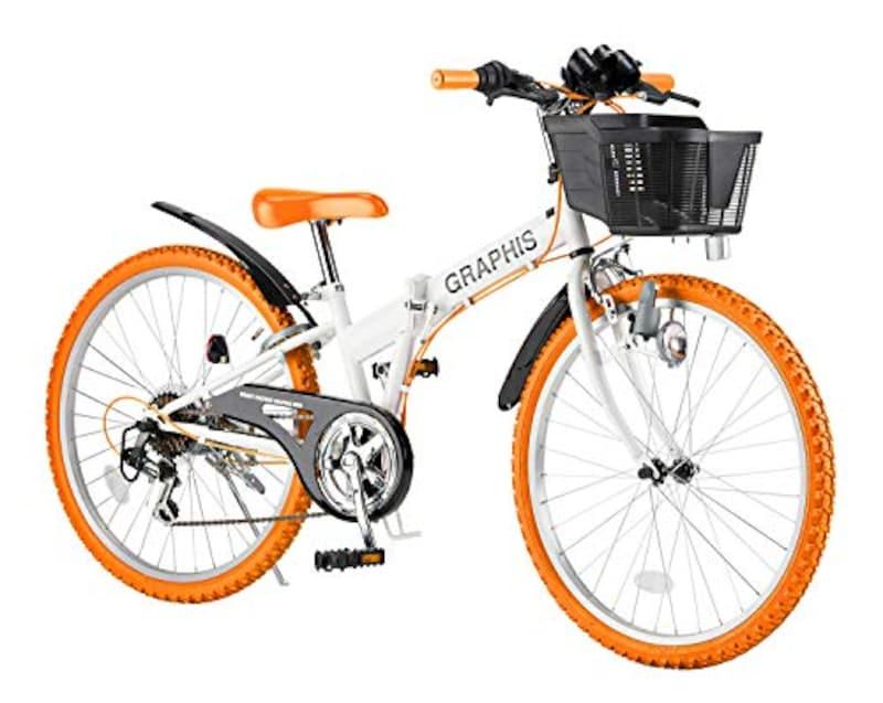 GRAPHIS(グラフィス),子供用自転車 折りたたみCTB 6段ギア