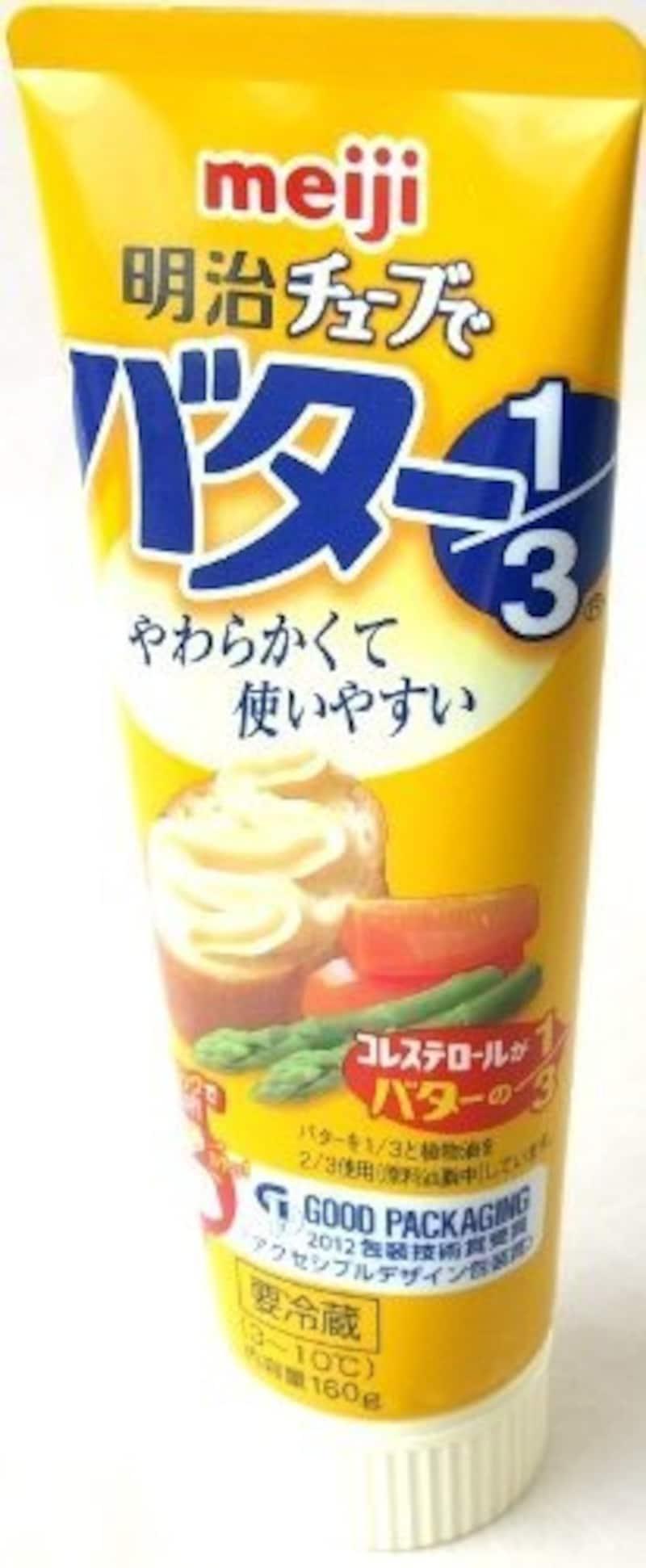 明治乳業,チューブでバター1/3   3本セット
