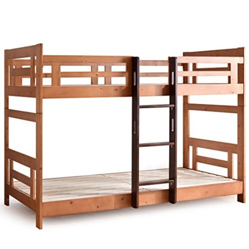 タンスのゲン,Freri(フレーリ) 天然木 2段ベッド,49600002