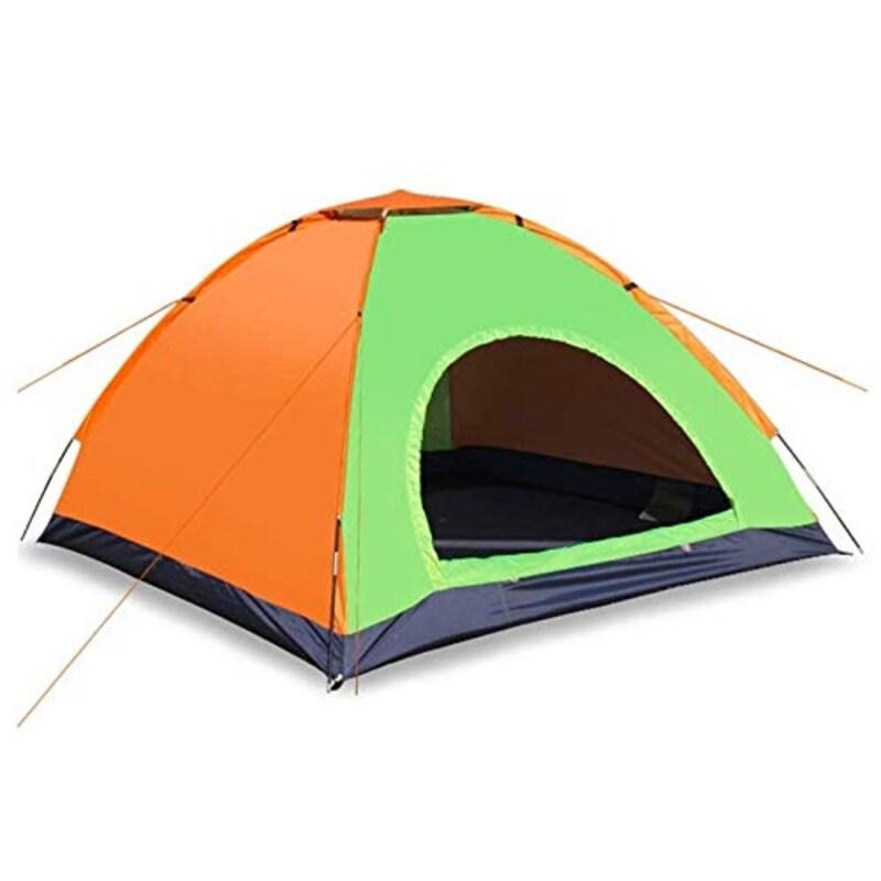 JNWEIYU,スクリーン付テント ドーム4-5人のキャンプポップアップテント