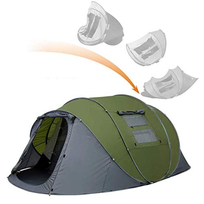 Strnry,4〜6人用の前庭付きテントをポップアップ