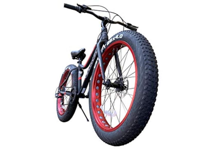 TRINX(トリンクス),ビーチクルーザー 【ファットバイク】,YJ-TRINX-T106-20-BKRD