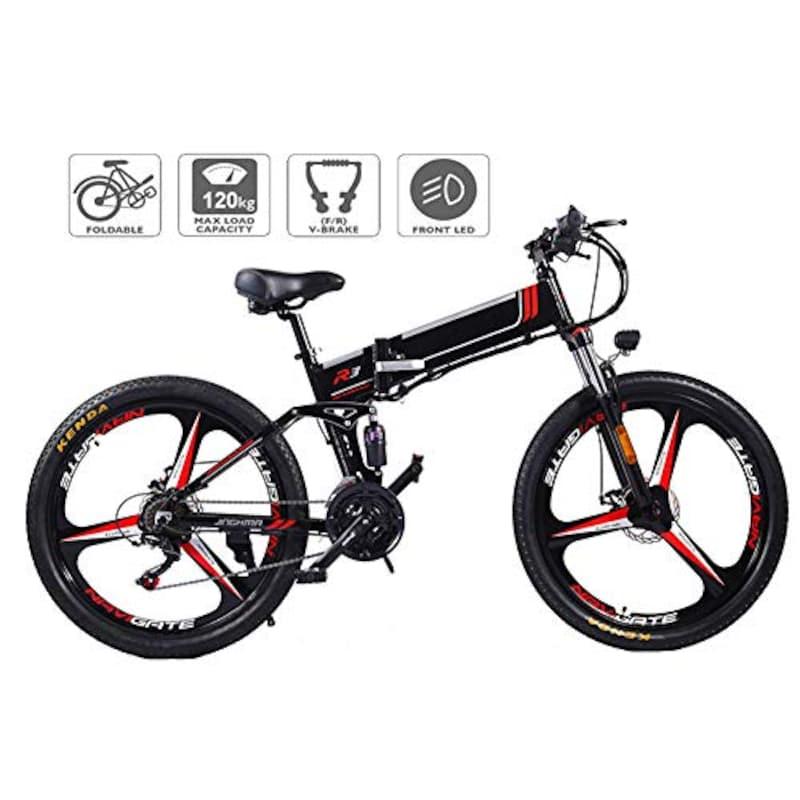 Xcmenl,電動自転車Eバイク折りたたみ軽量350W 48Vモーター