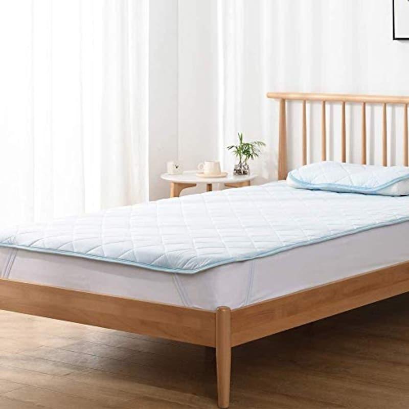クモリ,ひんやり 敷きパッド 接触冷感 ベッドパッド 速乾タイプ