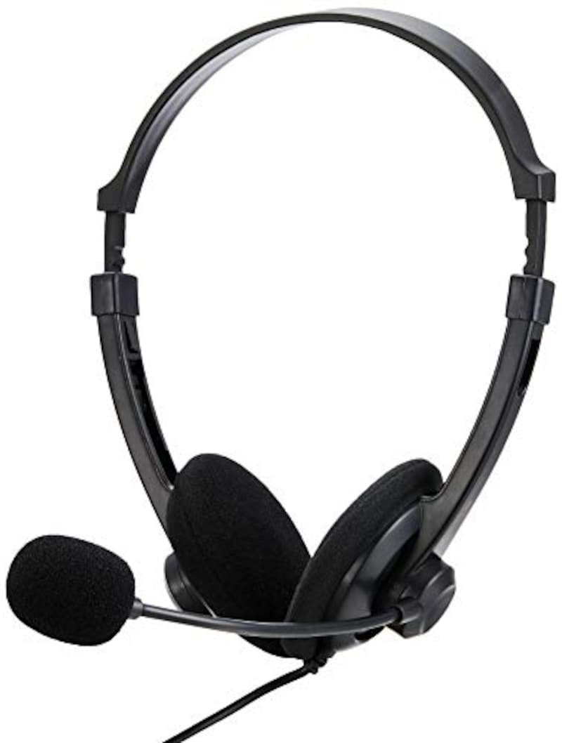 BUFFALO(バッファロー),両耳ヘッドバンド式ヘッドセット,BSHSUH12BK