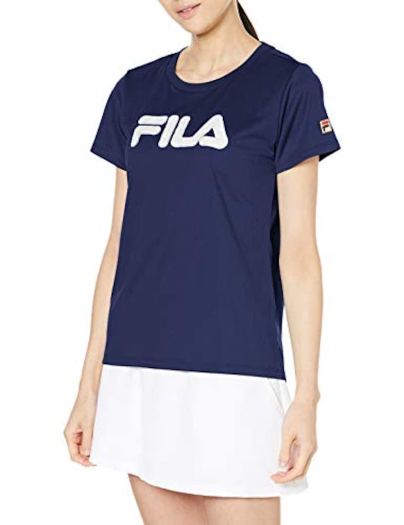 FILA(フィラ),レディース レースアップリケTシャツ VL2300,VL2300
